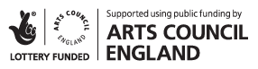 Supported using public funding by Arts Council England